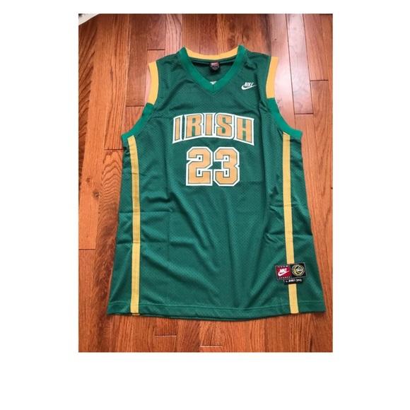 the latest c53a1 31ed0 NBA Retro Lebron James Highschool Jersey Size M